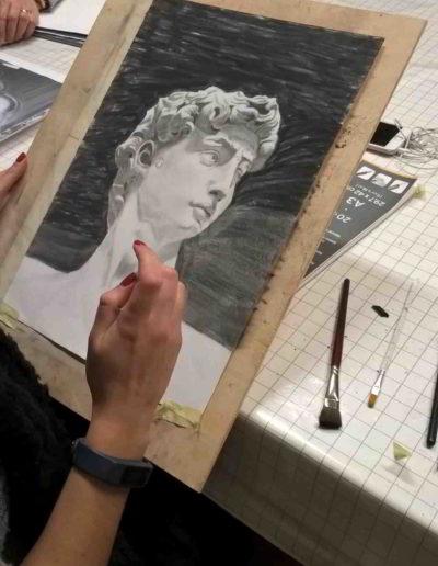 Foto del corso di disegno e acquerello