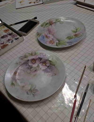 Foto del corso pittura su porcellana