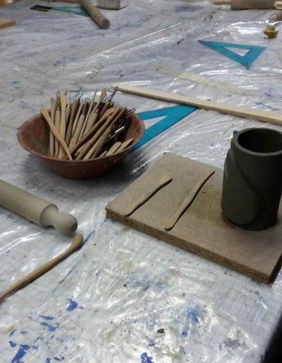 Foto del corso lavorazione e decorazione della creta